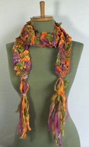 checkmate scarf in chiffon ribbon