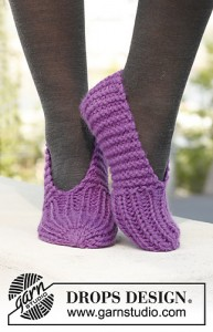 Lollipop Slippers in Andes by Drops Design