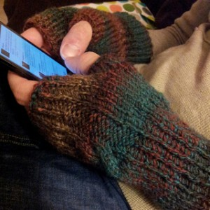 Men's Fingerless Gloves Pattern by Elizabeth Deremiah