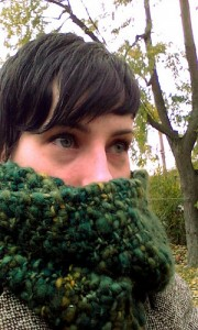 Bed of Moss Infinity Scarf by Natalie Webb
